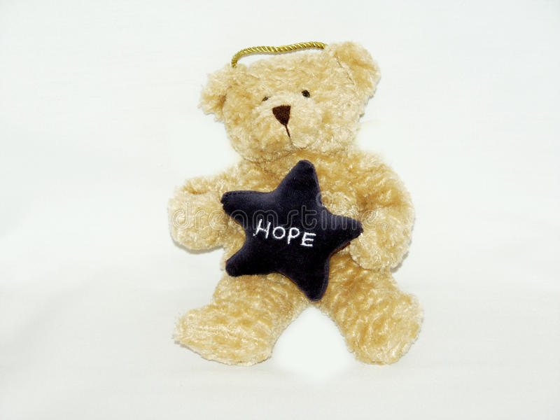 Teddy bear with hope royalty free stock photos