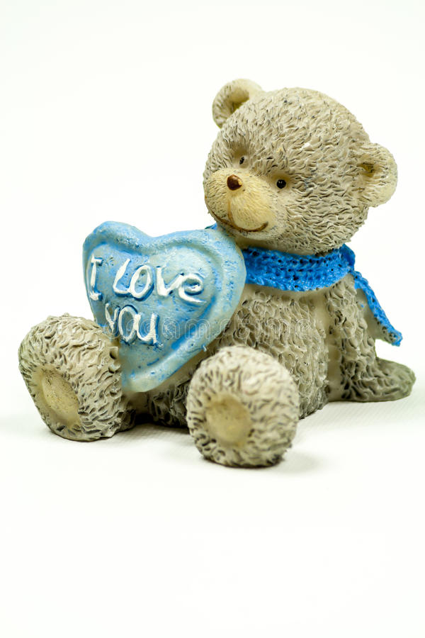 Teddy bear with i love you sign royalty free stock images