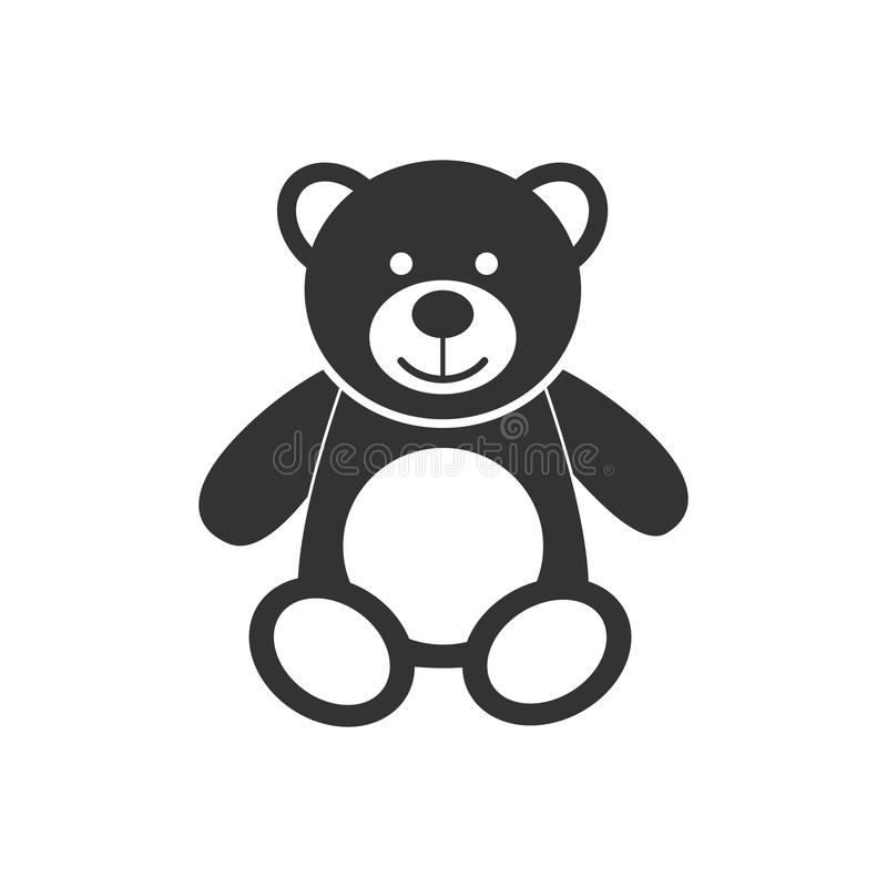 Teddy bear icon character isolated on white background. Soft toy icon. vector illustration