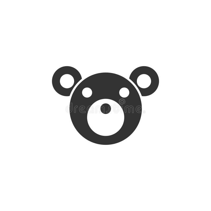 Teddy Bear icon flat royalty free illustration