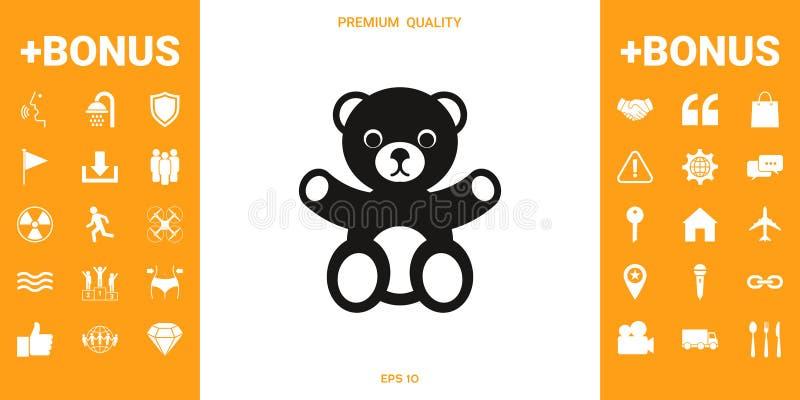 Teddy bear icon royalty free illustration