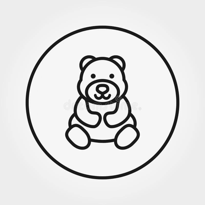 Teddy Bear Icona universale Vettore Linea sottile editabile royalty illustrazione gratis