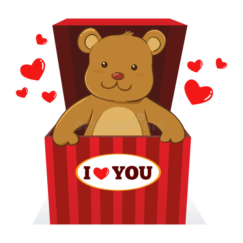 Free Teddy Bear In A Present Box Royalty Free Stock Photography - 65937607