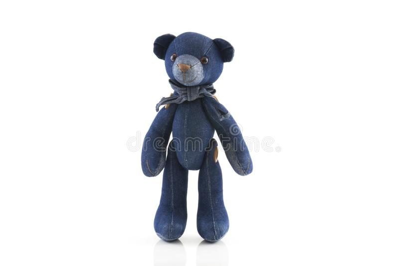 Teddy bear isolated on white background.  royalty free stock photography