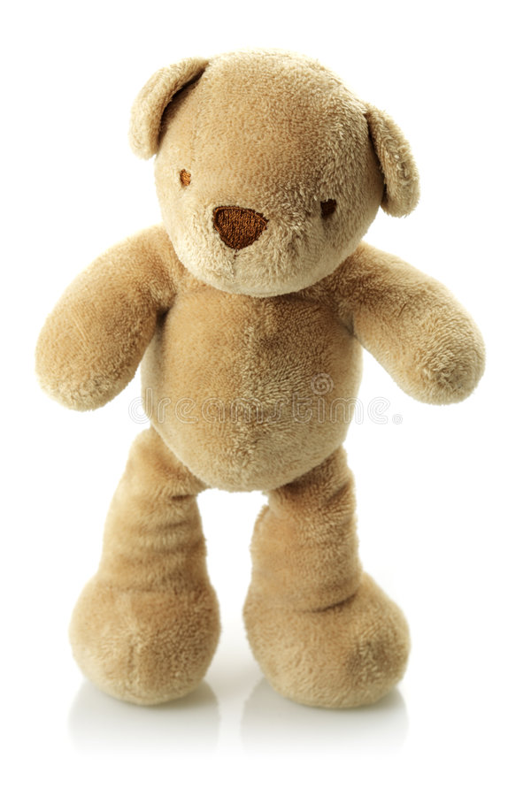 Teddy bear on its feet royalty free stock images