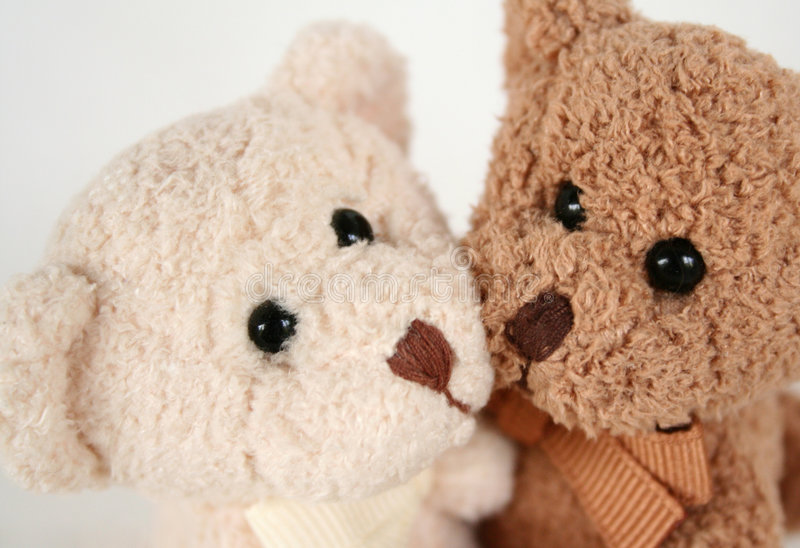 Download Teddy Bear Kisses and Hugs stock image. Image of toys - 1517091