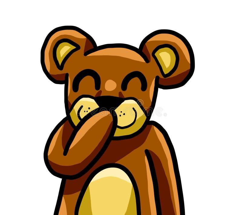 Teddy Bear Is Laughing piccolo adorabile royalty illustrazione gratis