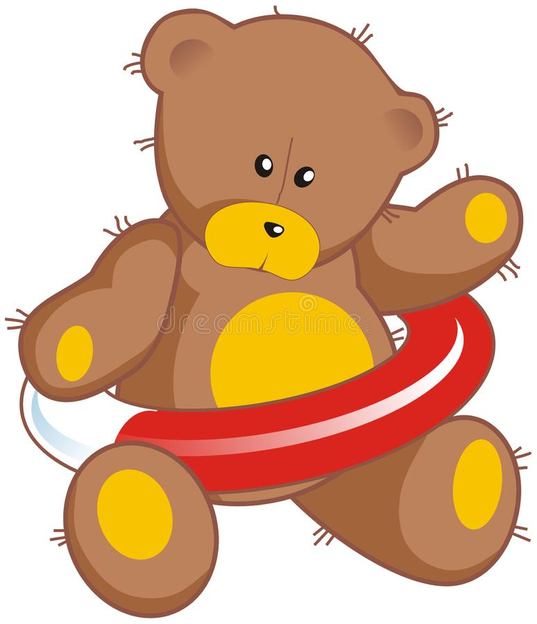 Download Teddy bear with life buoy stock vector. Illustration of life - 8456516