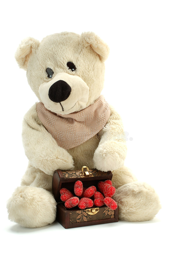 Download Teddy bear in love stock image. Image of love, white, symbol - 1641199