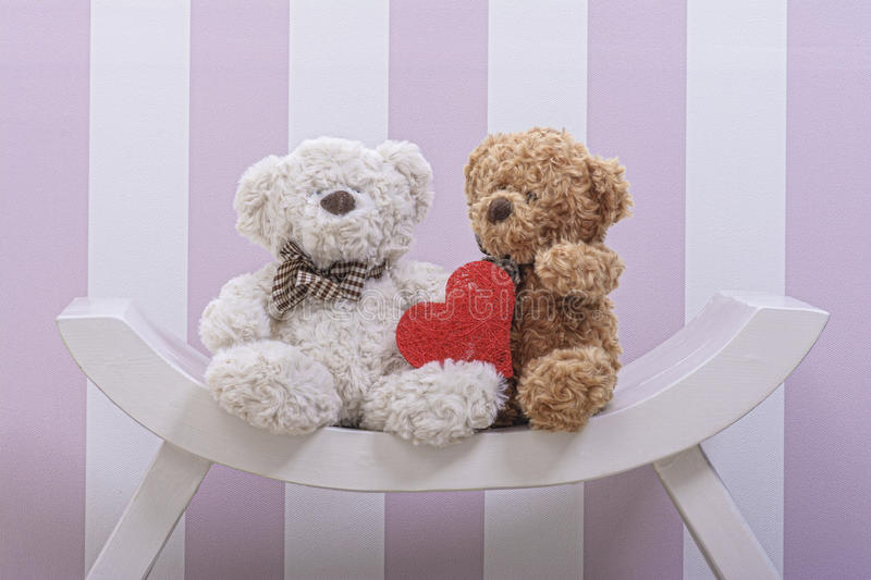 Teddy Bear Love royalty-vrije stock foto's