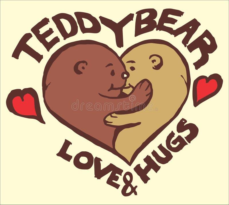 Teddy Bear Love royaltyfri illustrationer