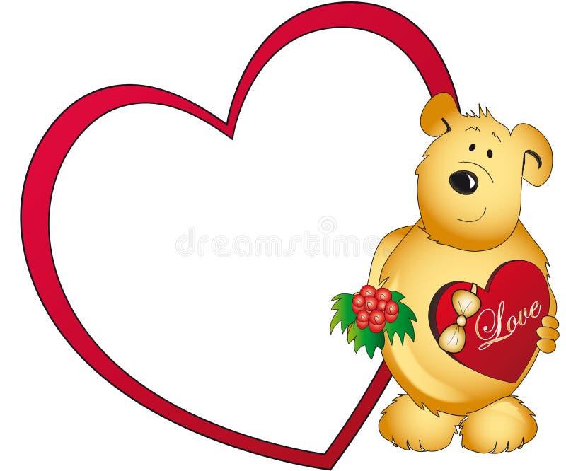 Teddy bear with love heart royalty free stock photography