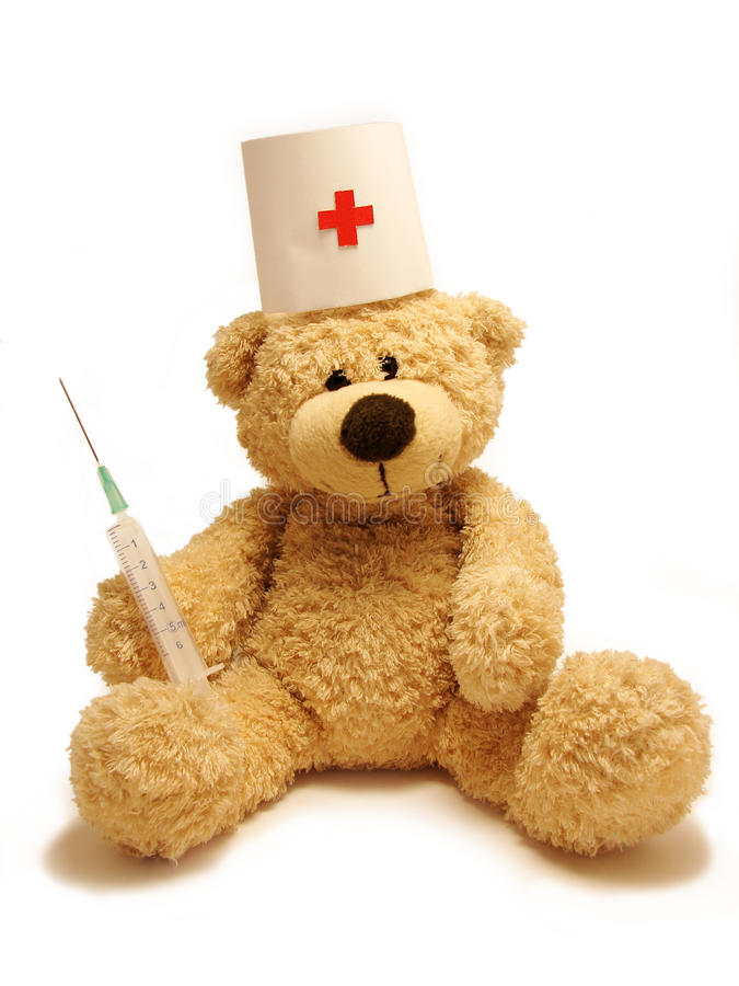 Download Teddy-bear medic stock photo. Image of isolated, health - 12021584