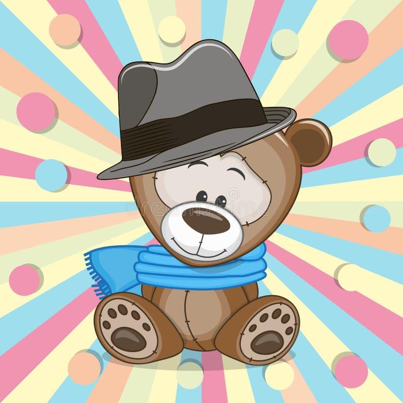 Teddy Bear met hoed royalty-vrije illustratie