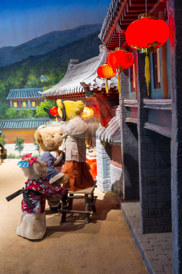 Teddy Bear Museum in China stock photography