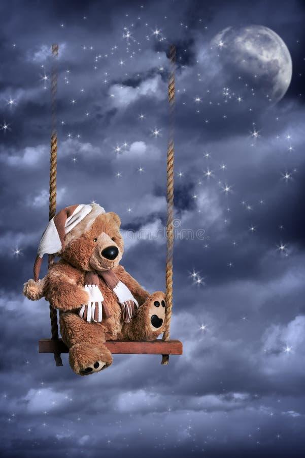 Teddy Bear In Night Sky fotos de stock royalty free