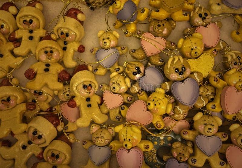 Teddy bear ornaments royalty free stock photography