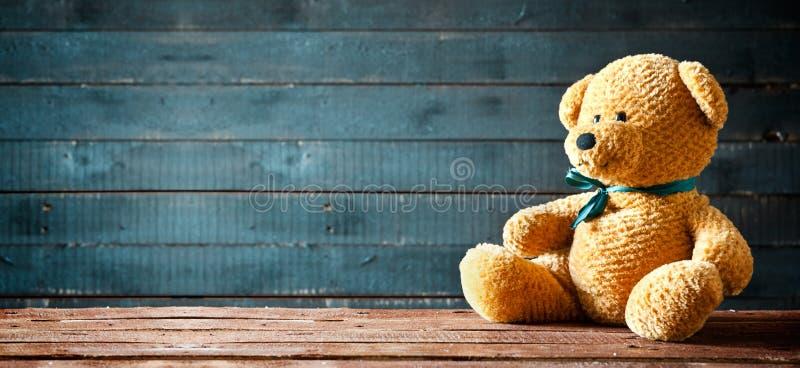 Teddy Bear Panorama sveglio fotografia stock libera da diritti