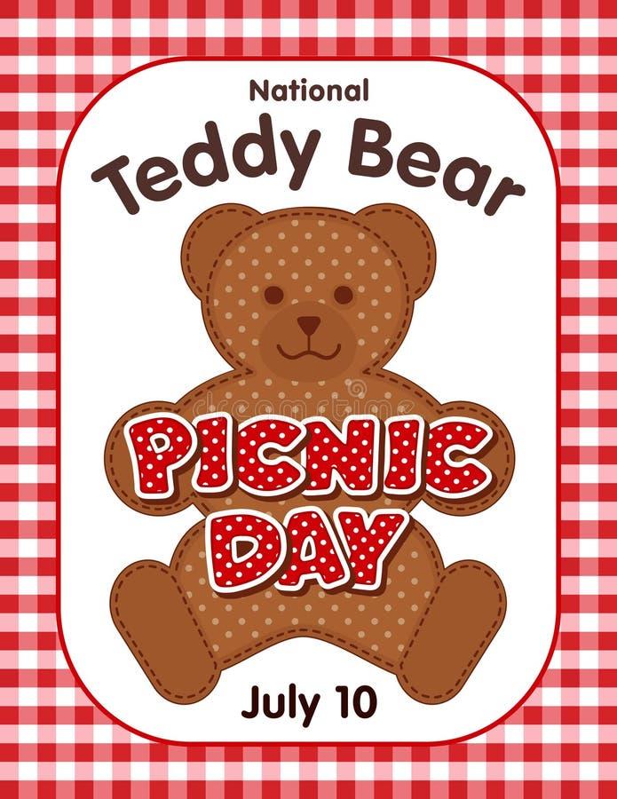 Teddy Bear Picnic Day Poster ilustração royalty free