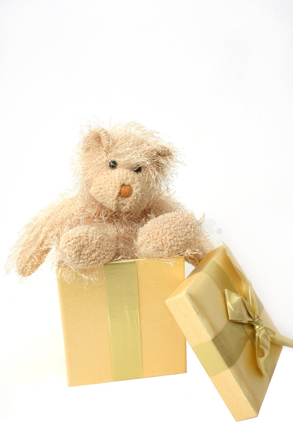 Free Teddy Bear Present Royalty Free Stock Images - 374529
