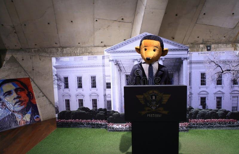 Teddy Bear President Obama images libres de droits