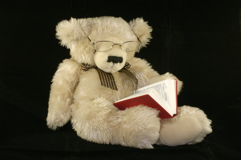 Download Teddy bear reading stock image. Image of bedtime, spectacles - 1125449