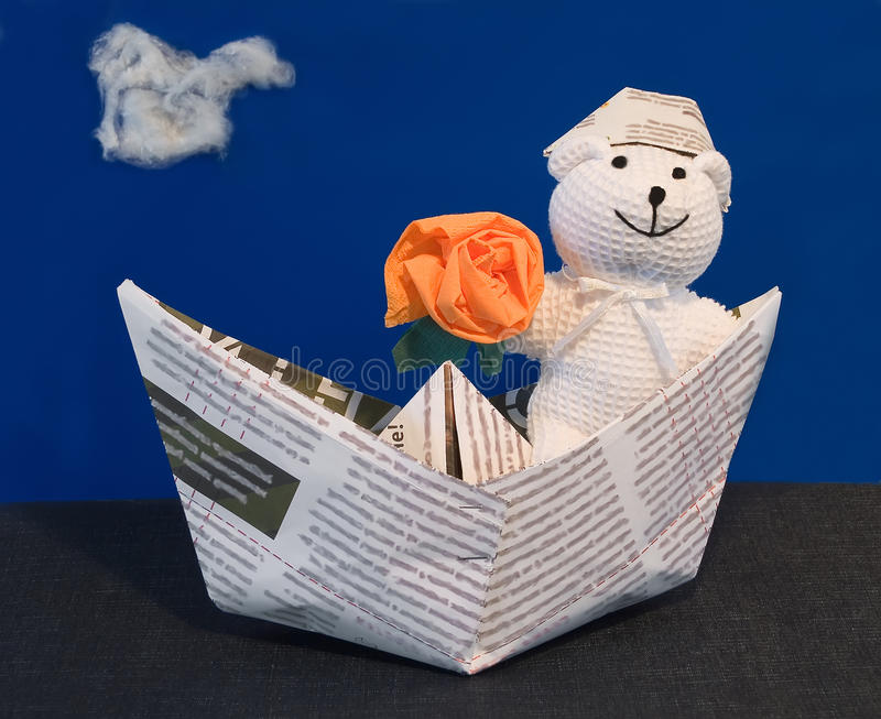 Teddy Bear the Sailor stock image