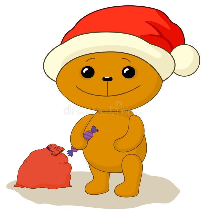 Teddy bear Santa Claus stock illustration
