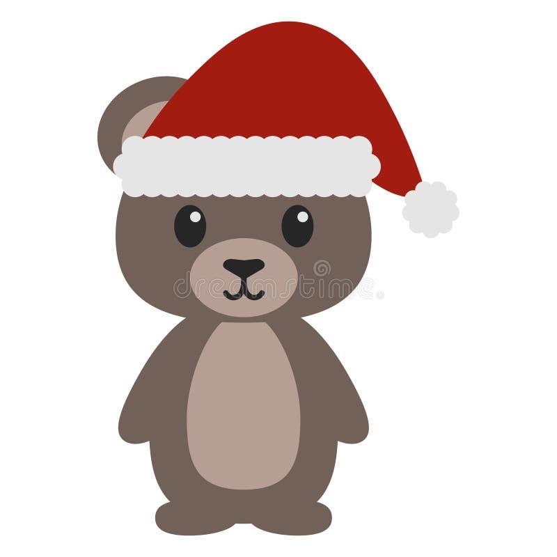 Teddy Bear in Santa Costume stock abbildung