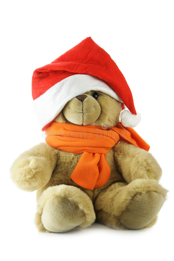 Download Teddy bear with Santa hat stock photo. Image of minion - 3755886