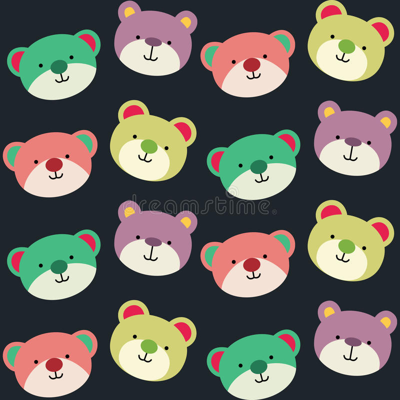 Teddy Bear Seamless Background Pattern royalty-vrije stock foto
