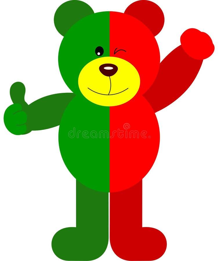 Teddy Bear Soccer Portugal Flag stock illustratie