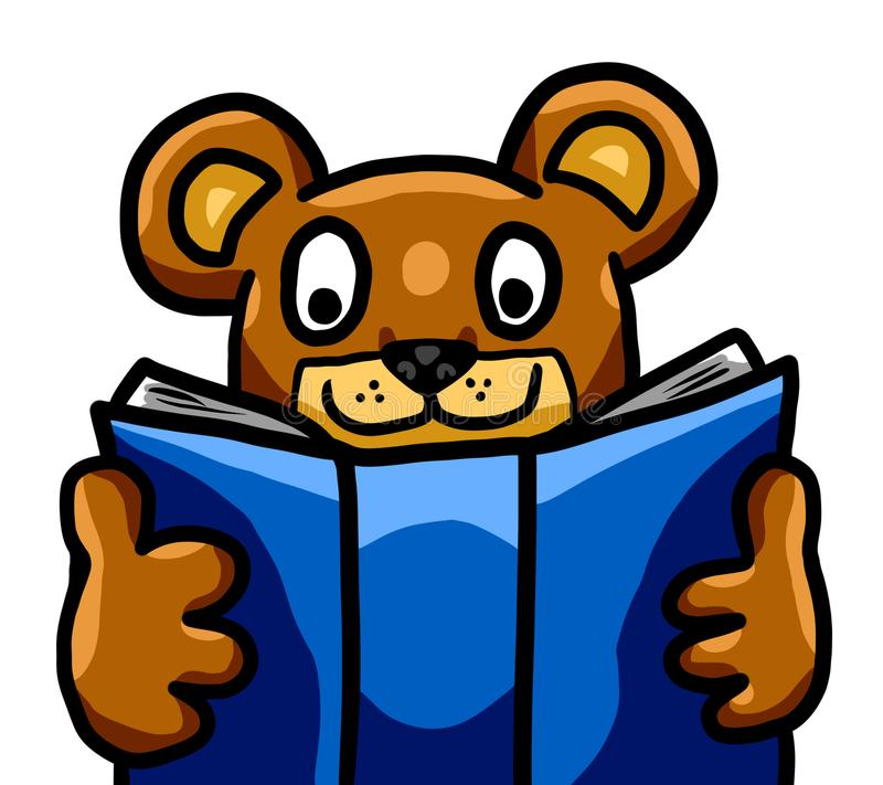 Teddy Bear Studying adorabile royalty illustrazione gratis