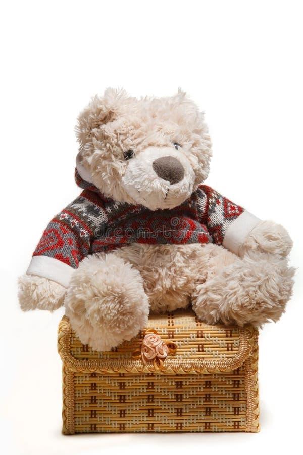 Teddy Bear sur la boîte photographie stock