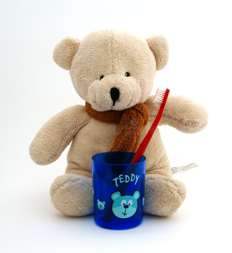 Download Teddy Bear With Toothbrush Stock Photo - Image: 2816630
