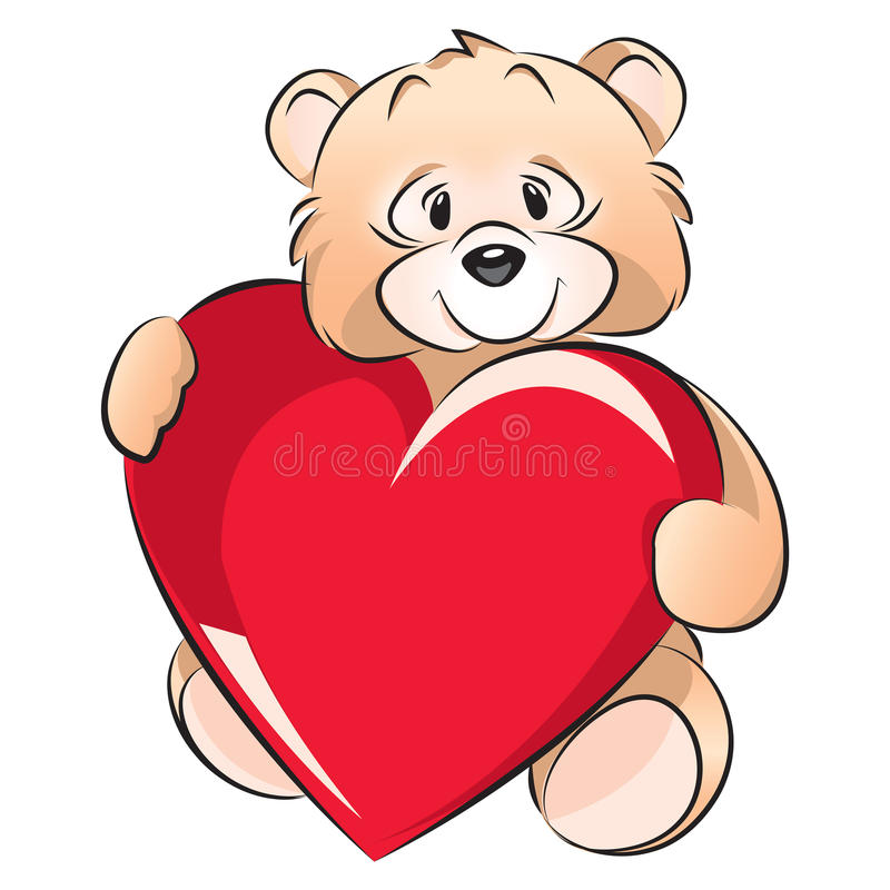 Teddy Bear Valentines Day Card Royalty Free Photos Image – Bear Valentines Card