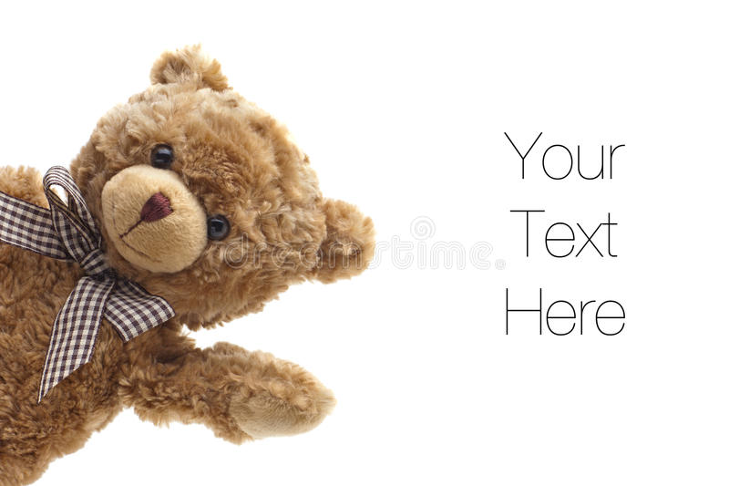 Teddy Bear Waving stock images