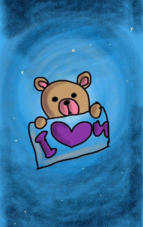Teddy Bear wenst u de Gelukkige Dag van StValentine ` s! royalty-vrije stock foto