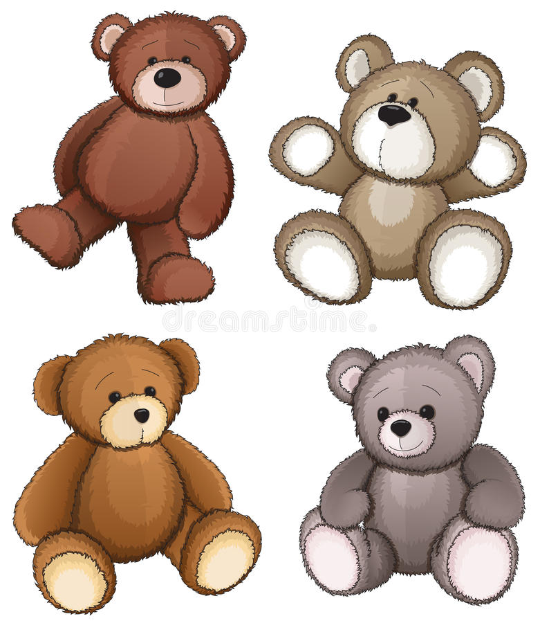 Teddy bears vector illustration