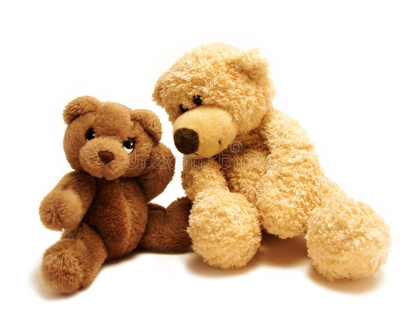 Teddy bears friends stock images