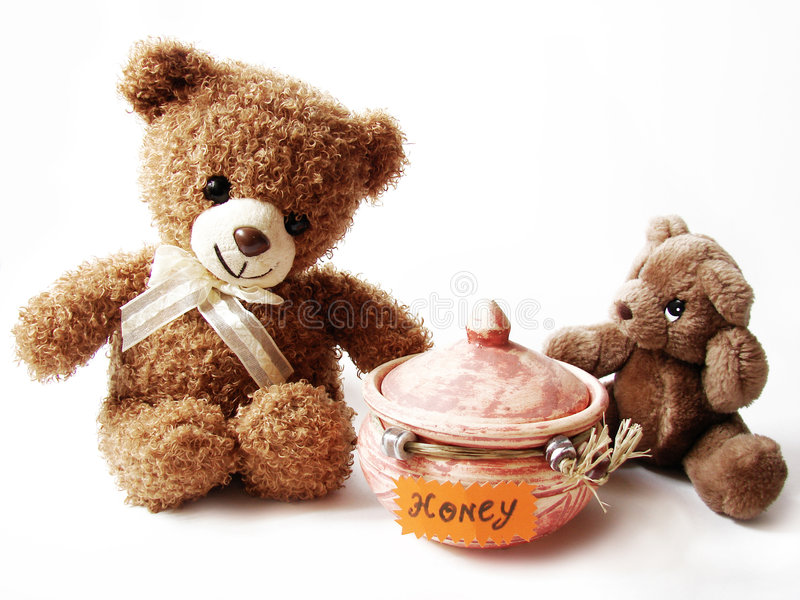 Download Teddy bears & honey stock photo. Image of brown, decoration - 2445678