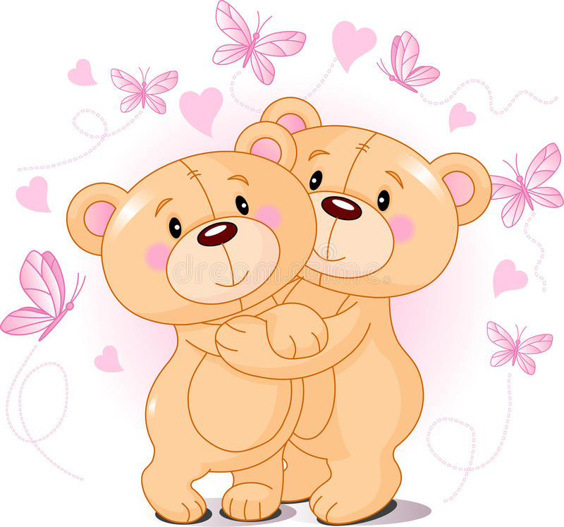Download Teddy bears in love stock vector. Image of cheerful, celebration - 17480143