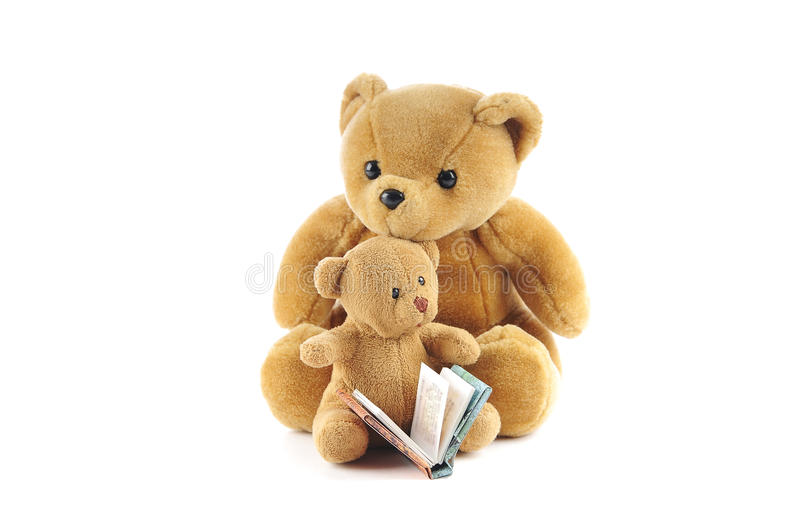 Teddy Bears And A Story Book Stock Images