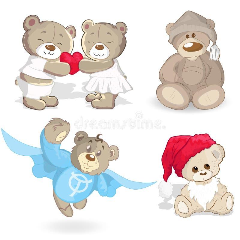 Teddy Bears Vectors royalty-vrije illustratie