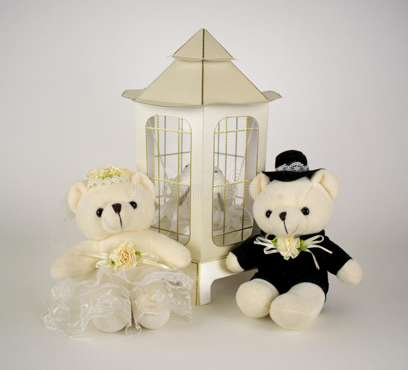 Teddy Bears Wedding stock foto's