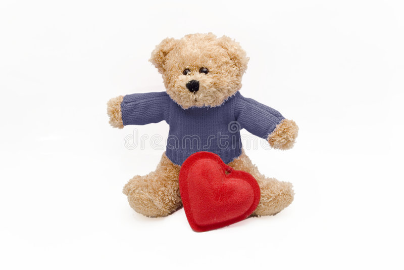 Download Teddy and heart stock image. Image of love, cute, culture - 1707433