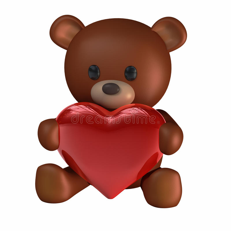 Download Teddy of Hearts stock illustration. Image of love, teddy - 12597015