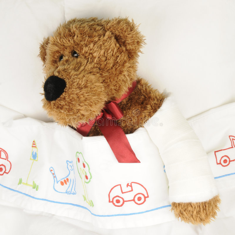 Teddy at the hospital royalty free stock images