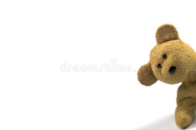 Download Teddy peeking stock photo. Image of brown, soft, bear - 1883196