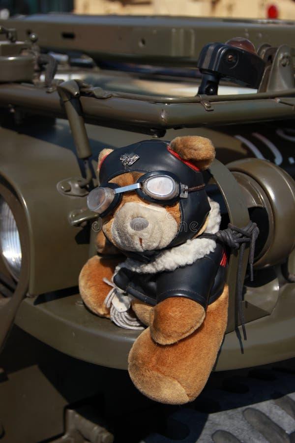 Teddy Pilot Bear immagini stock